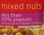 Less than 50%peanuts