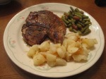 Cumin Spiced Pork Chop Diced Potatoes Shelli Beans Crescent Roll(3)