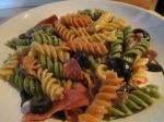 Italian Pasta Salad Hardwood Smoked Turkey Sausage pasta in bowl4